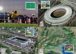 Liechtenstein 2006 / 2008 Complete Series 3 Maximum Card + 1 Sport Soccer Stadium Uefa Euro Cup - Otros