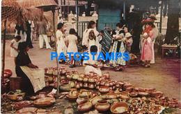 167980 EL SALVADOR SANTA TECLA MARKET MERCADO POSTAL POSTCARD - El Salvador
