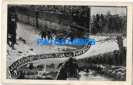 167986 UK ASHBOURNE FOOTBALL SOCCER MULTI VIEW POSTAL POSTCARD - Unclassified