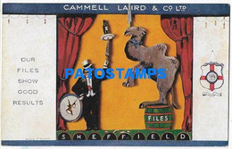 167989 PUBLICITY COMMERCIAL CAMMELL LAIRD & CO CIGARETTES UK SHEFFIELD POSTAL POSTCARD - Advertising