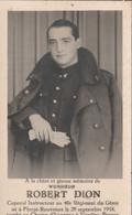 ABL , Dion Robert , Né à Florzé - Rouvreux Le 29 Septembre 1918  Au Champ D'honneur à Vézelise Le 18 Juin 1940 - Overlijden