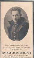 ABL , Jean Chaput , Né à Strépy Le 1er Octobre 1911 , Furnes Le 28 Mai 1940 - Overlijden