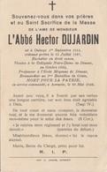 ABL , Dujardin Hector , Né à Onhaye 1er Septembre 1914 , Mort Pour La Patrie à Aerseele Le 26 Mai 1940 - Overlijden
