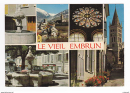 05 Le Vieil EMBRUN En 5 Vues N°96136 Tube Citroën Vers Fontaine Librairie Journaux Simca P60 Renault R8 - Embrun