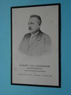 DP August Van LANDEGHEM ( BURGEMEESTER Van WILLEBROEK ) 31 Juli 1872 - 7 Jan 1928 () Dankbetuiging ! - Obituary Notices