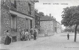 95 Val D'Oise - Seine Et Oise -  Saint LEU TAVERNY -  La Forêt - Cad St Leu Taverny 1908 - La Poste - Les écoles - - Saint Leu La Foret