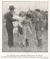 SETTIMANA AEREA LOMBARDA AEROPORTO DI TALIEDO SIGNORA ROMANESCHI  1930 RITAGLIO DI GIORNALE (176) - Altri