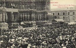 Fetes De Jeanne D' Arc à Reims 17 Juillet 1921 Pendant Le Sermon De S G Mgr Tissier Eveque De Chalons RV - Reims
