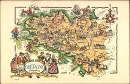 Landkarten CPA Bretagne Frankreich, Trachten - Other