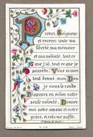 IMAGE PIEUSE De 1895.. Edit. Bonamy PL 108.. Prenez Seigneur Et Recevez Toute Ma Liberté... - Images Religieuses