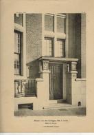 MAISON RUE DES COTTAGES 156 A UCCLE DETAIL DU PORCHE PHOTOTYPIE NELS EMULATION 1924 F.VAN MEULECOM ARCHITECTE - Architecture