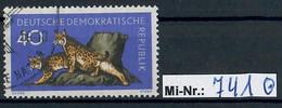 DDR Mi-Nr.:  741 Waldtiere 1959 Sauber Gestempelter Wert - Used Stamps