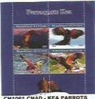 CHAD - 2020 - Kea Parrots - Perf 4v Sheet - Mint Never Hinged - Tschad (1960-...)