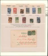 Fine Barbe - Page De Collection + Cachets étrangers Sur Timbres Détachés X11 (dont N°66) + Un Document . A Voir ! - 1893-1900 Thin Beard