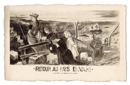 CPA Dentelées - RETOUR AU PAYS ENVAHI - D' Après Le Tableau De A. Brugière - Guerre 1914-18