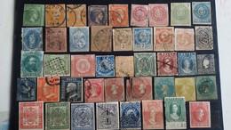 COLLECTION - 91 Timbres Anciens Du Monde Provenant D'un Vieil Album Maury - 10 Photos - Petit Prix De Départ - Sammlungen (ohne Album)