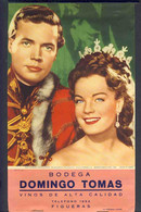 Calendrier 1961 Avec Photo De Romy Schneider Et Karlheinz Bohm, Du Film Sissi Emperatrice (17'5 X 38'5 Cms)(Ref.76961-1) - Big : 1961-70