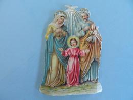 TRES BEAU DECOUPI  H:8 CM AVEC JESUS -MARIE-JOSEPH - Christmas