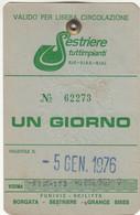 SCI SKI SKIPASS SESTRIERES TUTTIMPIANTI 1976 - Toegangskaarten