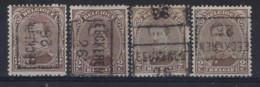 Koning Albert I Nr. 136 Type I Voorafgestempeld Nr. 3640  A + B + C + D EECKEREN  26  ; Staat Zie Scan ! - Roller Precancels 1920-29