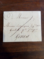 Prefilatelica Da Londra A Genes 19 Luglio 1761 - ...-1850 Voorfilatelie