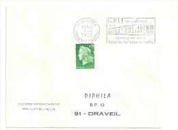CHARENTE Mme - Dépt N° 17 = SURGERES 1970 = FLAMME Codée FD = SECAP ' Les PTT Vous Offrent SITUATIONS ... ' - Mechanical Postmarks (Advertisement)
