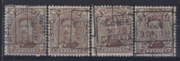 Koning Albert I Nr. 136 Type I Voorafstempeling Nr. 3665 A + B + C + D  RONSE 1926 RENAIX  ; Staat Zie Scan ! - Roller Precancels 1920-29