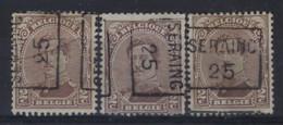 Albert I Nr. 136 Type I Voorafgestempeld Nr. 3448 A + B  + C SERAING  25  ; Staat Zie Scan ! - Roller Precancels 1920-29