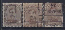 Koning Albert I Nr. 136 Type I voorafgestempeld Nr. 3253 A + B + D SERAING 24 ; Staat Zie Scan ! - Rollo De Sellos 1920-29