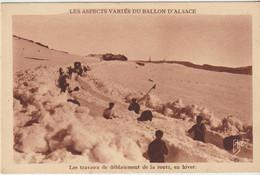 LES ASPECTS VARIES DU BALLON D'ALSACE    Les Travaux De Déblaiement De La Route , En Hiver - Non Classificati