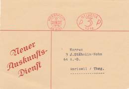 Schweiz - Küssnacht -Firmen-Freistempel In Oval -Stempel Nr. 1216 - Affranchissements Mécaniques