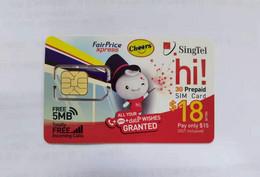 Singapore GSM SIM Card,used - Singapur