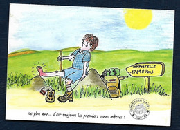 Carte Postale - Dessin - Compostelle - Marika - Humor