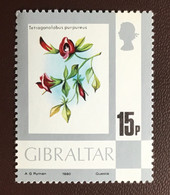 Gibraltar 1980 15p Definitive Flowers MNH - Unclassified