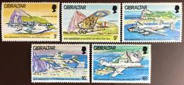 Gibraltar 1978 Royal Air Force Anniversary Aircraft MNH - Gibilterra