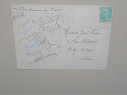 Cp Football  SOUVENIR DU LOSC 1951 à Metz , Autographe Dédicasse , STRAPPE PREVOST VINCENT BARATTE WALTER JENSEN ..... - Sports