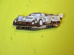 PIN'S    24 HEURES DU MANS  1990 JAGUAR  XJR 12       Email Grand Feu  Argenté - Rallye