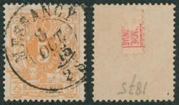 """émission 1869 - N°28 Obl Double Cercle """"Messancy"""" / Collection Spécialisée. - 1869-1883 Leopold II"""