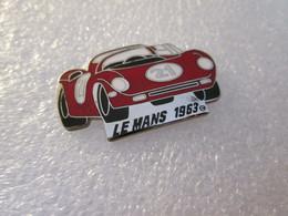 PIN'S    24 HEURES DU MANS  1963   FERRARI  250 P       Email Grand Feu  Argenté - Rallye