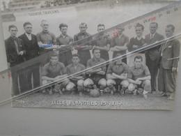 Photo 14,5 X 22,5 , Football , LILLE FLANDRES 1943/44 Dédicasse Autographe De FRANCOIS BOURBOTTE - Sports