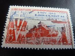 Libération - 10ème Anniversaire - 15f. - Rouge Et Bleu - Oblitéré - Année 1954 - - Used Stamps
