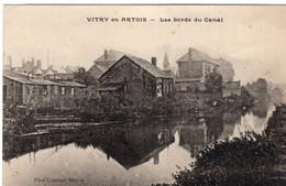 62-VITRY EN ARTOIS- LES BORDS DU CANAL-ANIMEE - Vitry En Artois