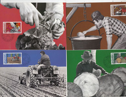 Liechtenstein 1982 Mensch Und Arbeit 4 Maxicards (53886) - Cartoline Maximum