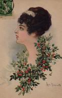 Illustrée Signée Simonetti : Femme Au Fragon - Femmes