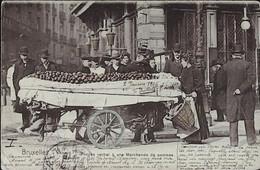 La MARCHANDE De POMMES - Le Procès-Verbal -à Bruxelles - Street Merchants