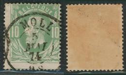 """émission 1869 - N°30 Obl Double Cercle """"Moll"""" / Collection Spécialisée. - 1869-1883 Leopold II"""