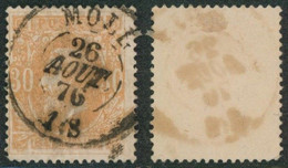 """émission 1869 - N°33 Obl Double Cercle """"Moll"""" / Collection Spécialisée. - 1869-1883 Leopold II"""