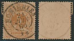 """émission 1869 - N°28 Obl Double Cercle """"Momignies"""" Superbe ! / Collection Spécialisée. - 1869-1883 Leopoldo II"""