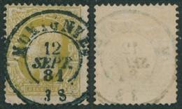 """émission 1869 - N°32 Obl Double Cercle """"Momignies"""" / Collection Spécialisée. - 1869-1883 Leopoldo II"""