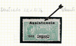 """ST. THOMAS And PRINCE STAMP - 1946 Tax Stamps Overprinted """"Assistência"""" & Surcharged Md#9 MH (LSTM#86) - Portuguese Guinea"""